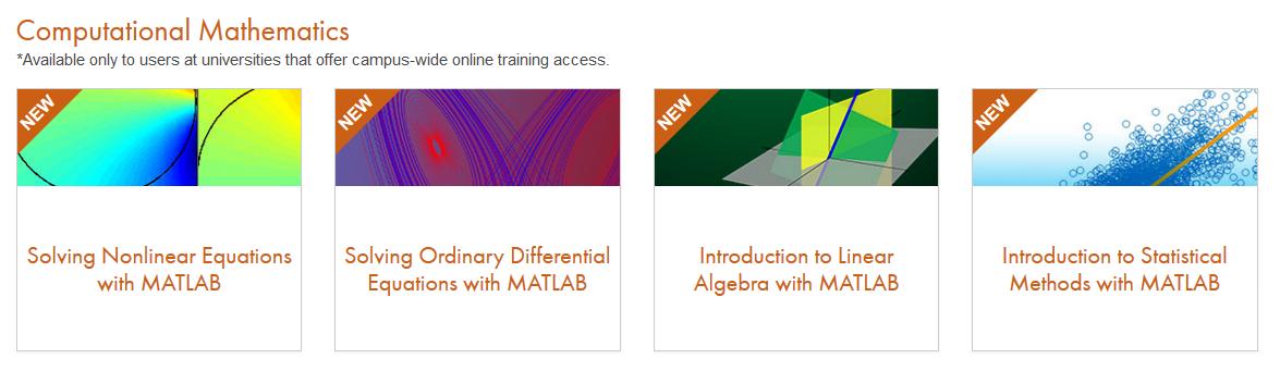 Nové online kurzy matematiky na portále MATLAB Academy | HUMUSOFT Blog